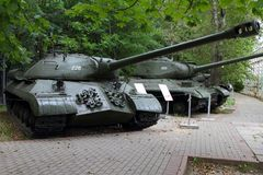 Heavy Tank IS-3 model 1945 USSR on grounds of weaponry exhibit Royalty Free Stock Image