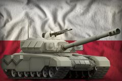Heavy tank on the Poland national flag background. 3d Illustration. Heavy tank on the Poland flag background. 3d Illustration vector illustration