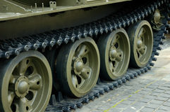 Heavy tank track Stock Photo