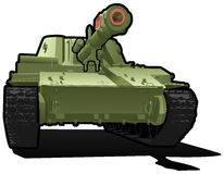 Heavy tank. Vector color illustration of  tank. (Simple gradients only - no gradient mesh Stock Image