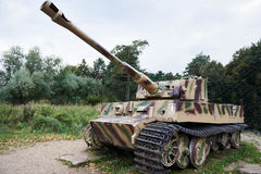 Heavy tank of Wehrmacht Tiger I Royalty Free Stock Photo