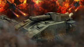 Heavy tanks war. Royalty Free Stock Photo
