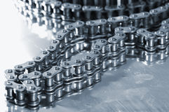Heavy timing-chain for automotive-industry Royalty Free Stock Photos