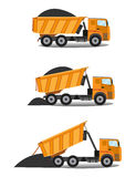 Heavy tipper delivered coal Royalty Free Stock Photo