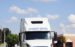 CDL Tractor Trailer Student Driver School stock photography