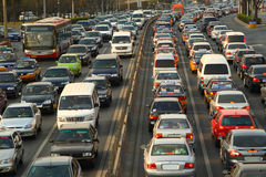 Heavy Traffic. This picture was shot in peak hour traffic Stock Photo
