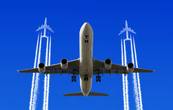 Heavy traffic. In the air Stock Photos