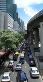 Heavy traffic in Bangkok Royalty Free Stock Photography