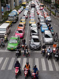 Heavy traffic in Bangkok Royalty Free Stock Photo