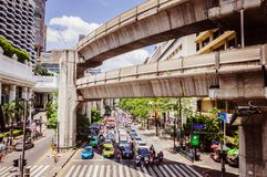 Heavy traffic in Bangkok Royalty Free Stock Images