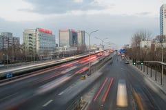 Heavy traffic in beijing Stock Image
