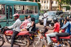 Traffic on The Square, Kampala, Uganda stock images