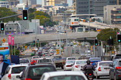 Heavy traffic in Brisbane, Australia Royalty Free Stock Photos