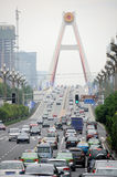 Heavy traffic in Chengdu Stock Photography