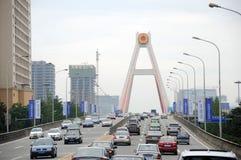 Heavy traffic in Chengdu Royalty Free Stock Photo