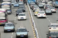 Heavy traffic in China Royalty Free Stock Images