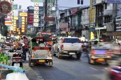 Heavy traffic in Chinatown, Bangkok royalty free stock image