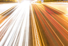 Heavy traffic flow. Rush hour after get off work Royalty Free Stock Photo