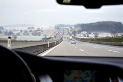 Heavy traffic on highway Stock Image