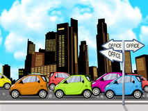 Heavy Traffic illustration Royalty Free Stock Image