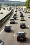 Heavy traffic jam royalty free stock images