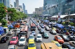 Heavy traffic jam Stock Images