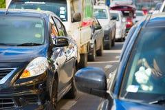 Heavy traffic jam Stock Photography
