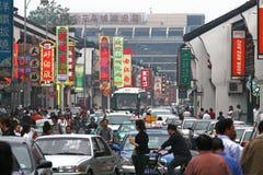 Heavy traffic jam in Shanghai Royalty Free Stock Photos