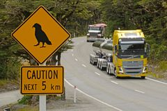 Heavy traffic leaving the kea danger zone Royalty Free Stock Photos