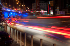 Heavy traffic lights Royalty Free Stock Images