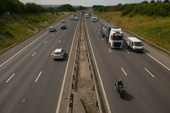 Heavy traffic on the M1 Motorway Royalty Free Stock Photography