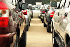 Heavy traffic at road Royalty Free Stock Image