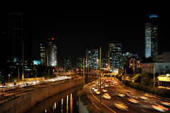 Heavy traffic in Tel Aviv Stock Photos