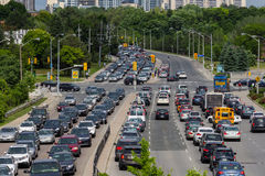Heavy Traffic in Toronto Royalty Free Stock Photo