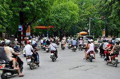 Heavy traffic in Vietnam Royalty Free Stock Photography