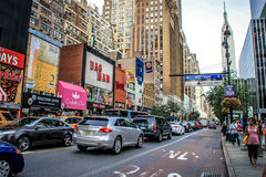 Heavy traffic on West 34th Street, New York Royalty Free Stock Image