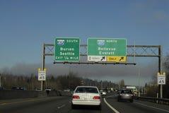 Heavy trafic Seattle Royalty Free Stock Photo