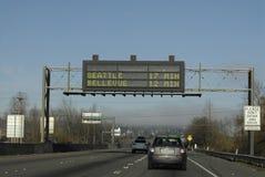 Heavy trafic Seattle Stock Image