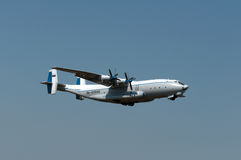 Heavy transport aircraft An-22A Antey. Rostov-on-Don, Russia, August 26, 2012 Stock Photography
