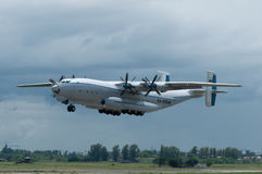Heavy transport aircraft An-22A Antey. Rostov-on-Don, Russia, June 4, 2013 royalty free stock photos