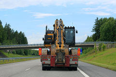Heavy Transport With Bridge Ahead Royalty Free Stock Photography