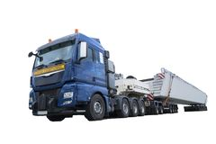 Heavy transport truck stock photography