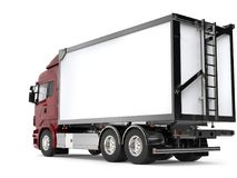 Heavy transport truck - rear view Royalty Free Stock Image