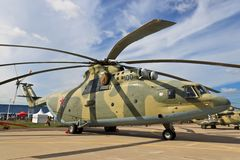 Heavy troop-transport helicopter Mi-26 Royalty Free Stock Image