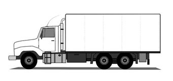 Heavy truck. A  illustration of heavy truck Royalty Free Stock Images