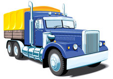 Heavy truck. Vector heavy truck on white background, without gradients Royalty Free Stock Photo