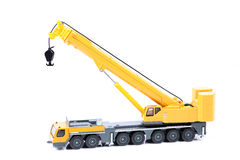 Heavy truck crane. Beautiful shot of heavy truck crane on white background Stock Image