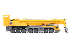 Heavy truck crane. Beautiful shot of heavy truck crane on white background Stock Photography