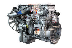 Heavy truck diesel engine isolated Royalty Free Stock Photos