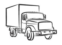 Heavy truck. Drawing of the heavy truck Royalty Free Stock Photo